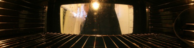 A picture showing the inside of an oven in Wimbledon undergoing tests as part of a repair