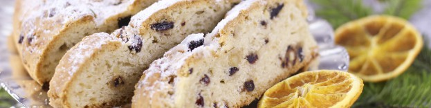 A picture of stollen, one of many options from around the world for alternative christmas dinner feasts