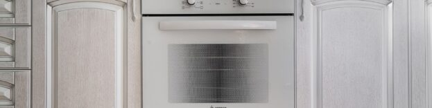 image of an oven in a kitchen
